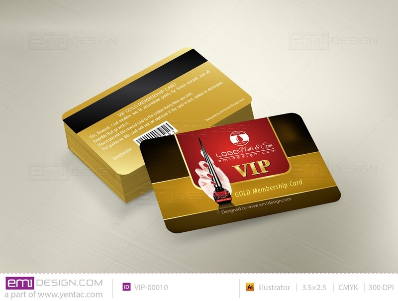 Plastic VIP Card Template- VIP-00010