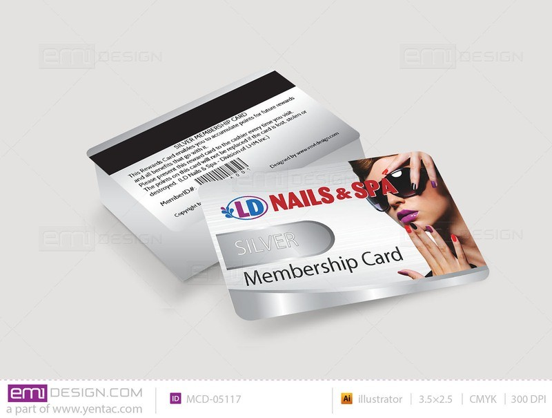 Membership Card Template MCD-05117