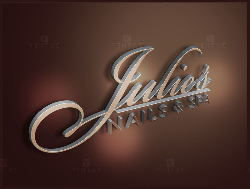 01 - Logo Design - Julies Nails Spa #5047 Salon