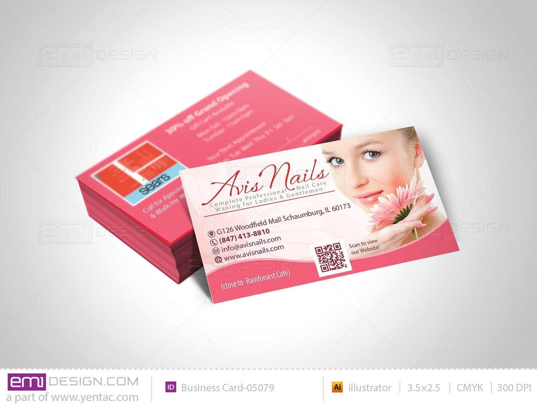 Business Card - Template BusCard-05079 - Avis Nails