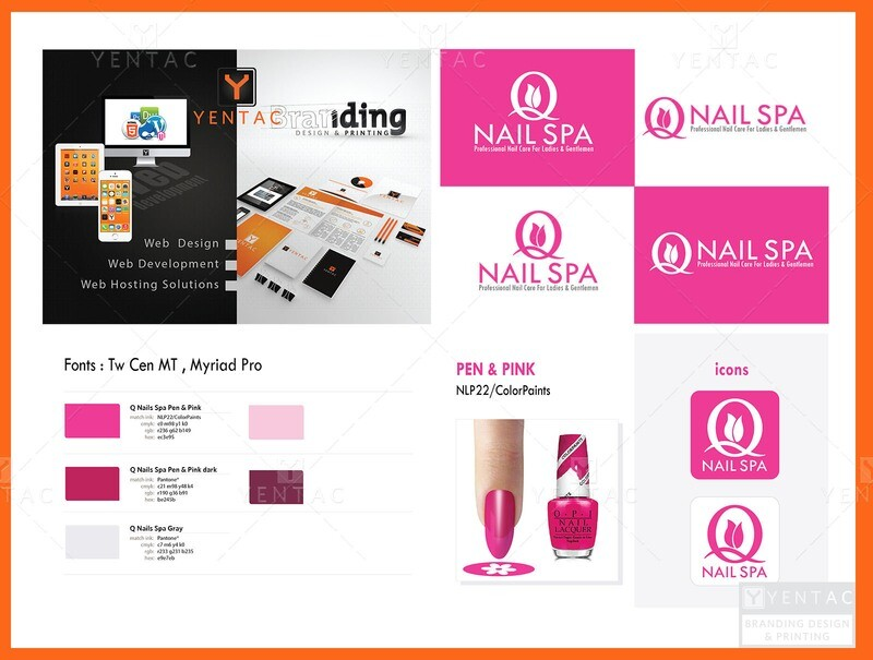 01 - Logo - Nail Salon #5032 Q NAIL Brand
