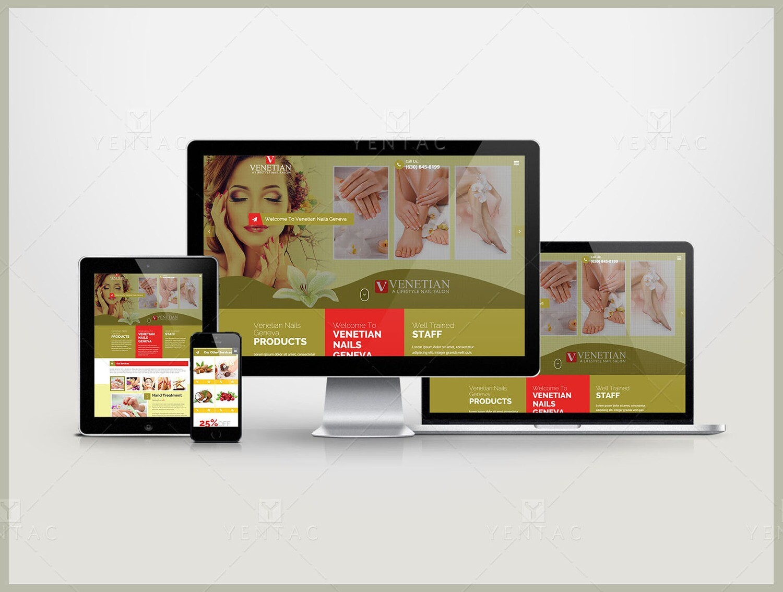 101 - Web Design Solution - Venetian Nails Spa #5051
