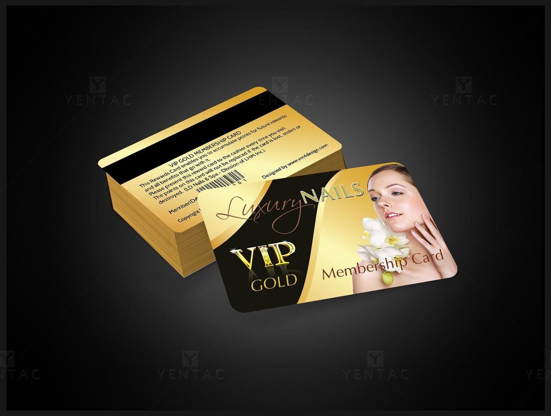 06 - Plastic VIP Card - Luxury Nails Spa #0991 Salon