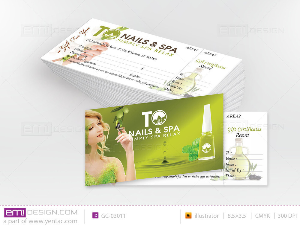 Gift Certificate Template GC-03011