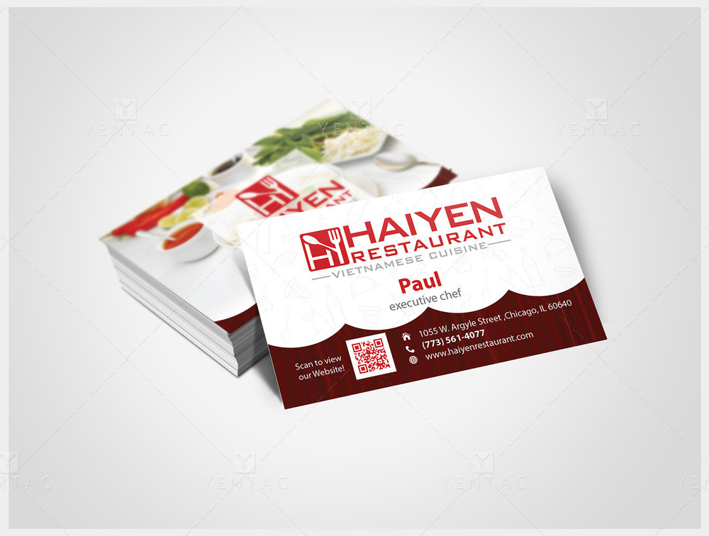 02 - Business Card - Restaurant #1003  Hai Yen
