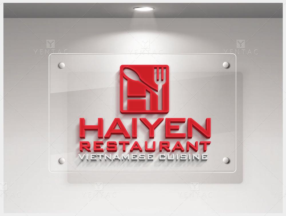 01 - Logo & Signage Design - Restaurant #1003 Hai Yen