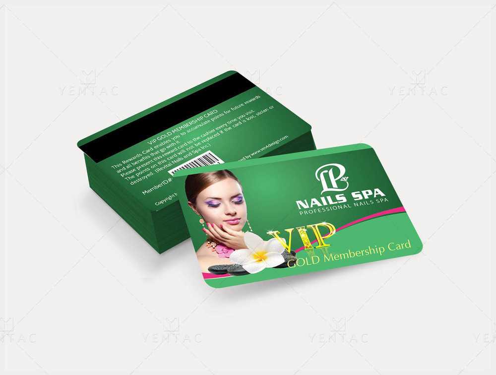 06 - Plastic VIP Card - LP Nails Spa #5069 Salon