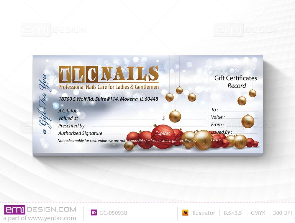 Gift Certificate Template GC-05093B