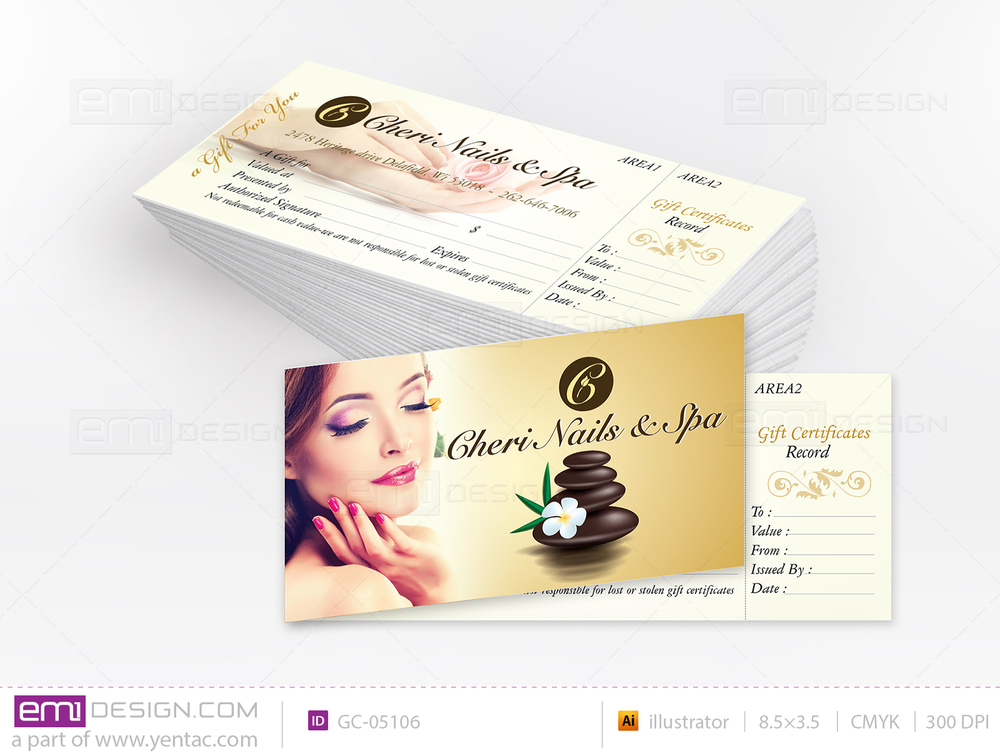 Gift Certificate Template GC-05106