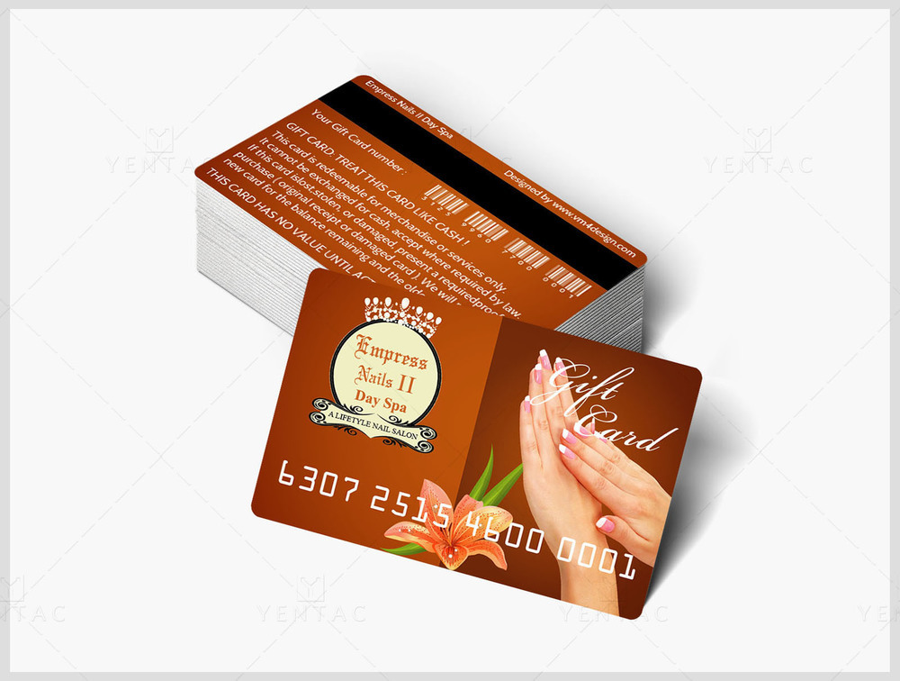 06 - Plastic Gift Card - Empress Nails Spa #4007