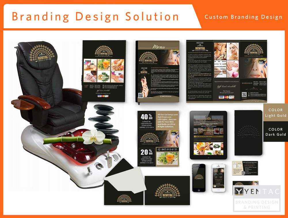 00 - Beauty Custom Branding Package A - Nail Salon #5010 Revital Brand