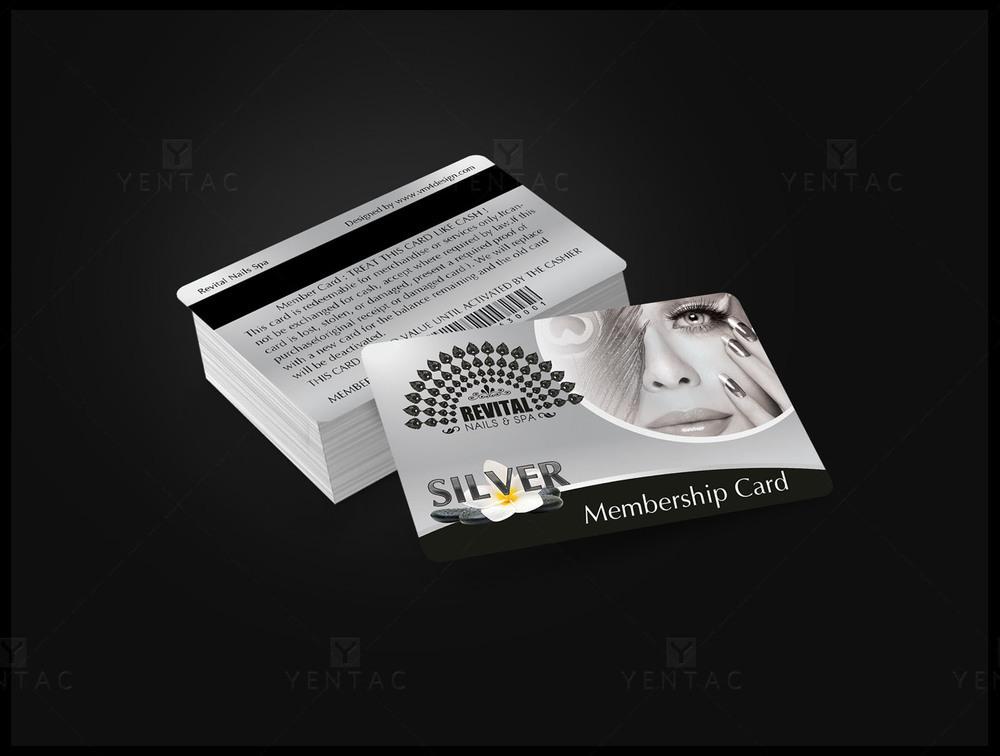 06 - Plastic Silver Membership Card - Nail Salon #5010 Revital Brand