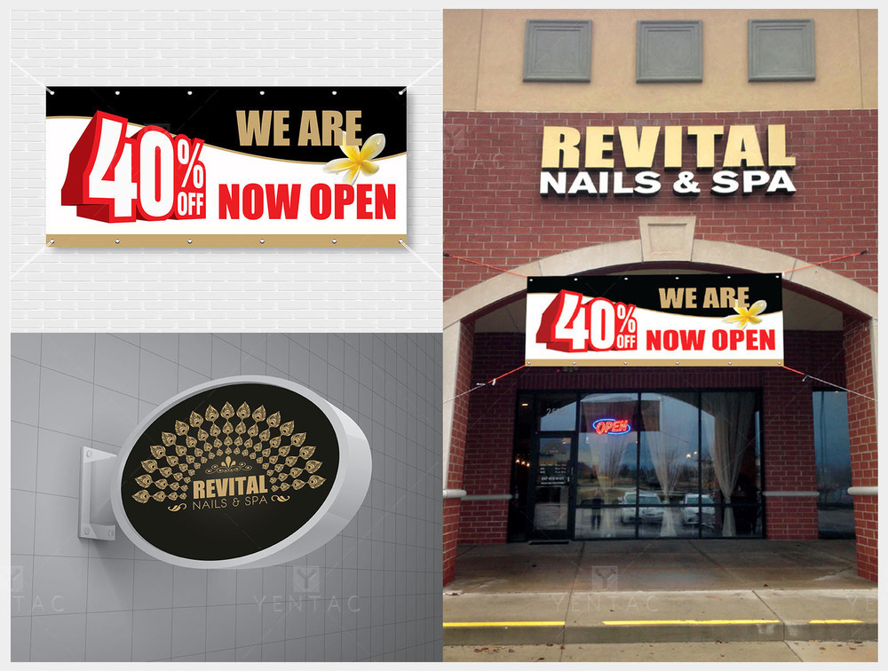 08 - Signage Solution - Nail Salon #5010 Revital Brand