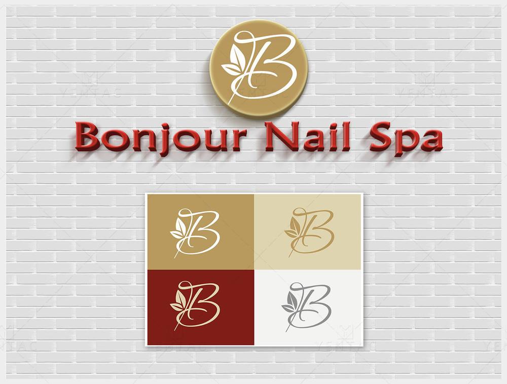 01 - Logo - Bonjour Nails Spa #5070 Salon