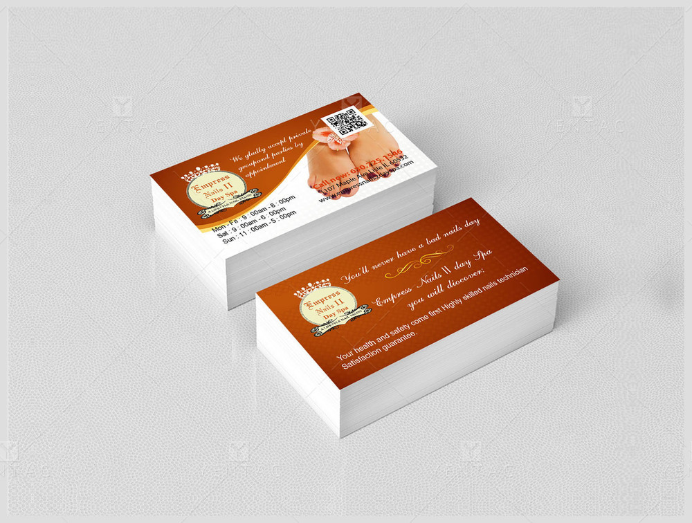 02 - Business Card - Empress Nails Spa #4007 Salon