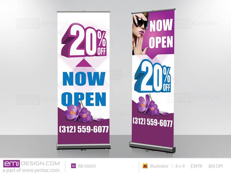 Retractable Banner Template RB-00001