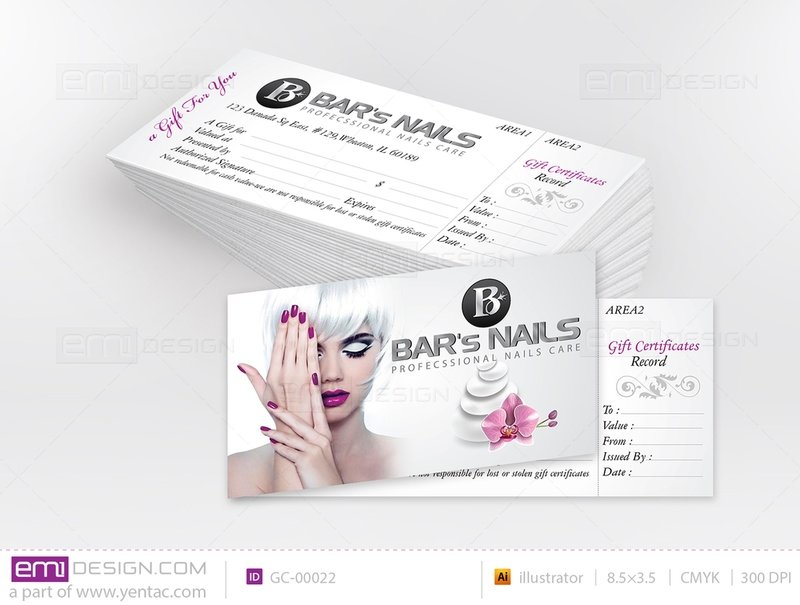 Gift Certificate Template GC-00022 Silver