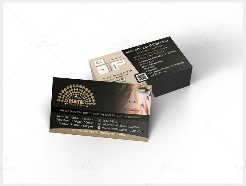 02 - Business Card - Nail Salon #5010 Revital Brand