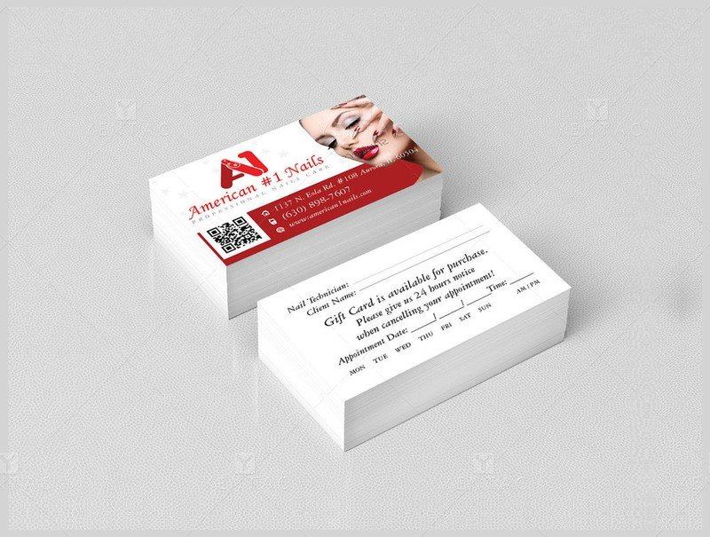02 - Business Card - A1 Nail Spa #1001