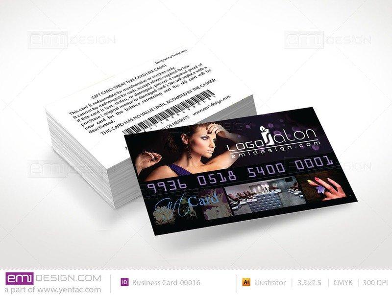 Plastic Gift Card Template - GCD-00016