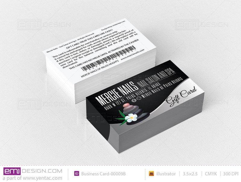 Plastic Gift Card Templates - GCD-00001-B