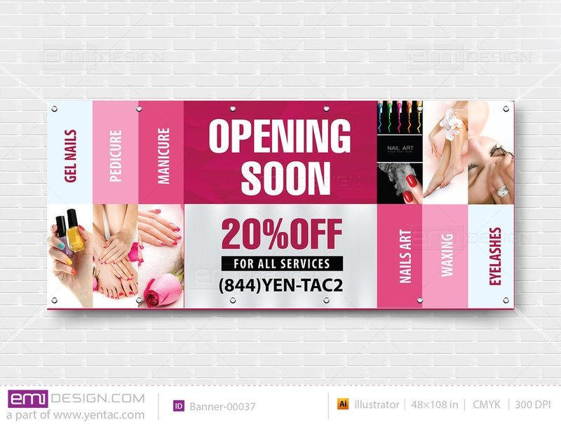 Banner - Outdoor Size 4x9 No Picture Template: 00037
