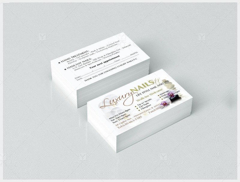02 - Business Card - Luxury Nails Spa #0991 Salon