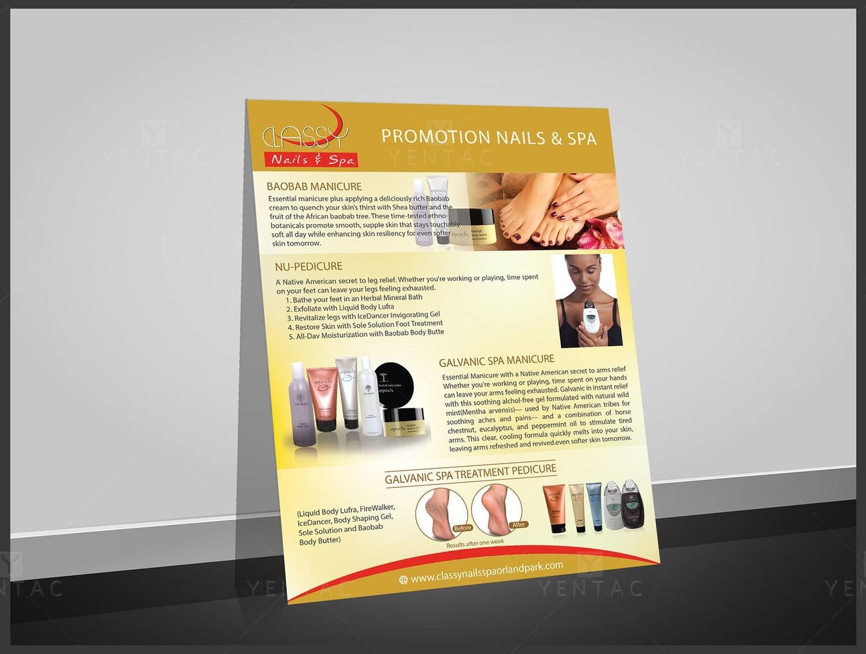 10 - Promotions - Flyers Nail Salon #0990 Classy Brand