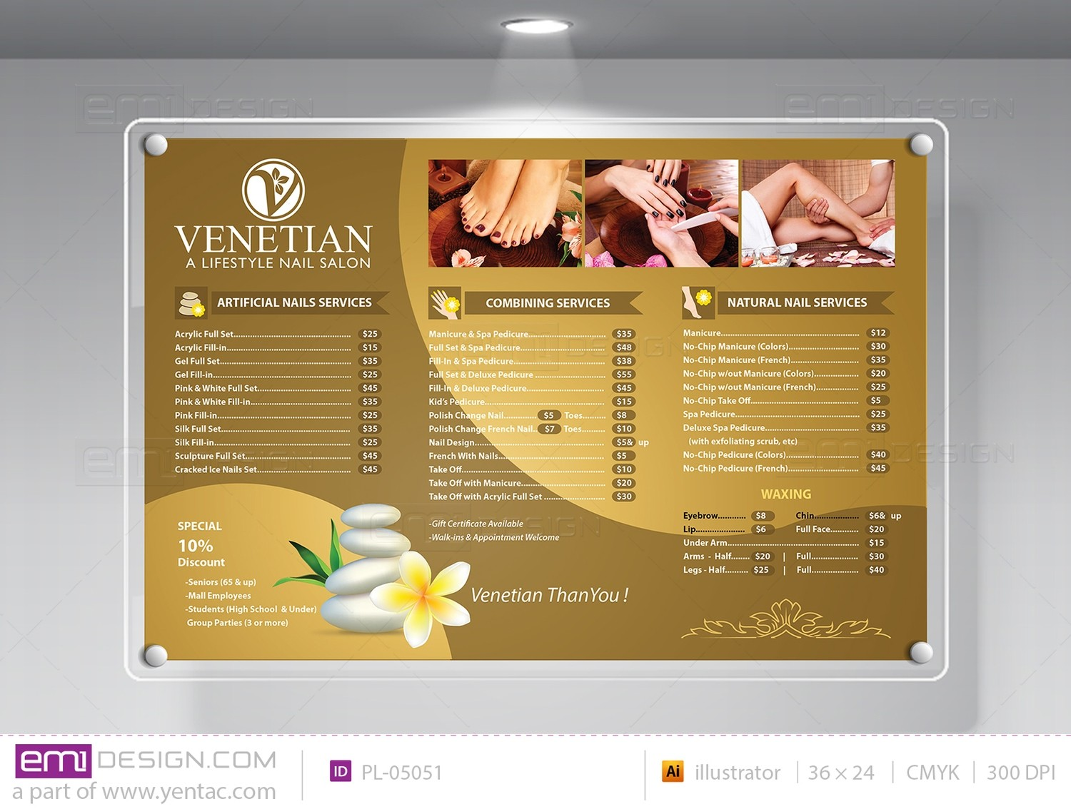 Price List Template PL-05051