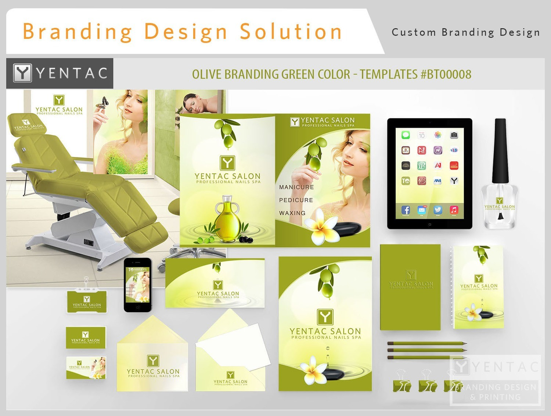 00 - Branding Custom Identity - TO Full Brand Franchise - Olive Green Color Templates:  BT000008 - 3011