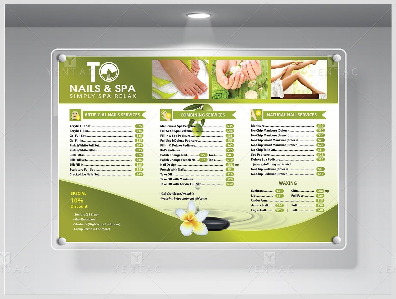 03.3 - Price List Custom Design & Printing - TO Brand Franchise #3011