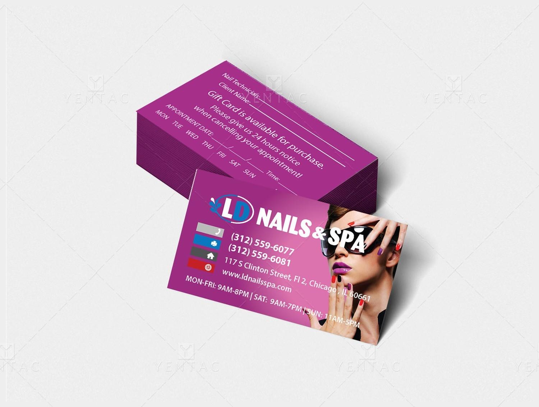 02 - Business Card - Nail Salon #5117 LD Brand