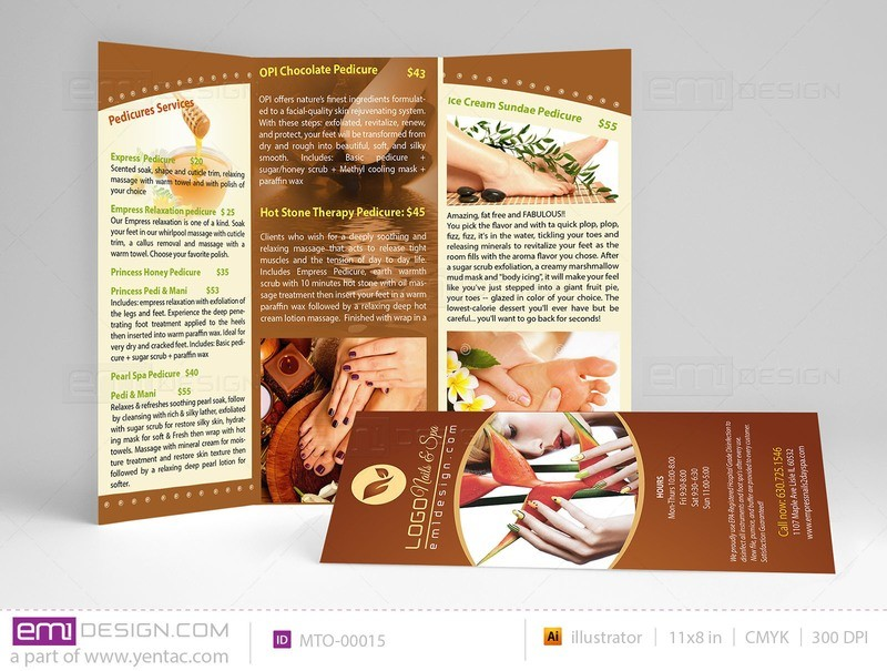 Menu-Take-Out Size 8.5x11 Tri-Fold Templates MTO-00015
