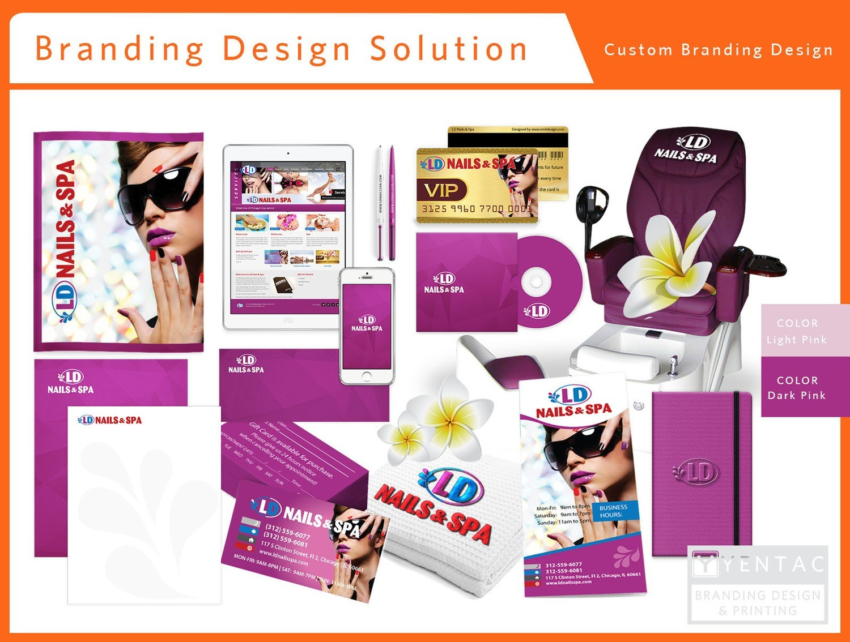 00 - Branding Custom Branding Stationary Package A Nail Salon - #5117 LD Brand