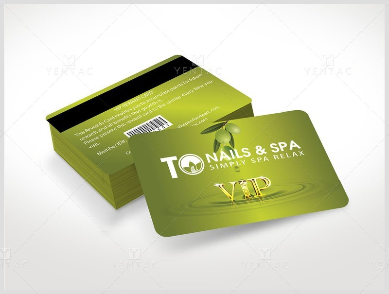 06 - Plastic VIP Card - TO Nails Spa #3011 TO Nail Salon Brand
