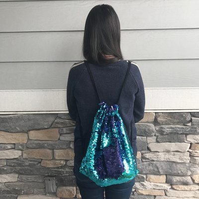 Reversible Sequin Drawstring Backpack