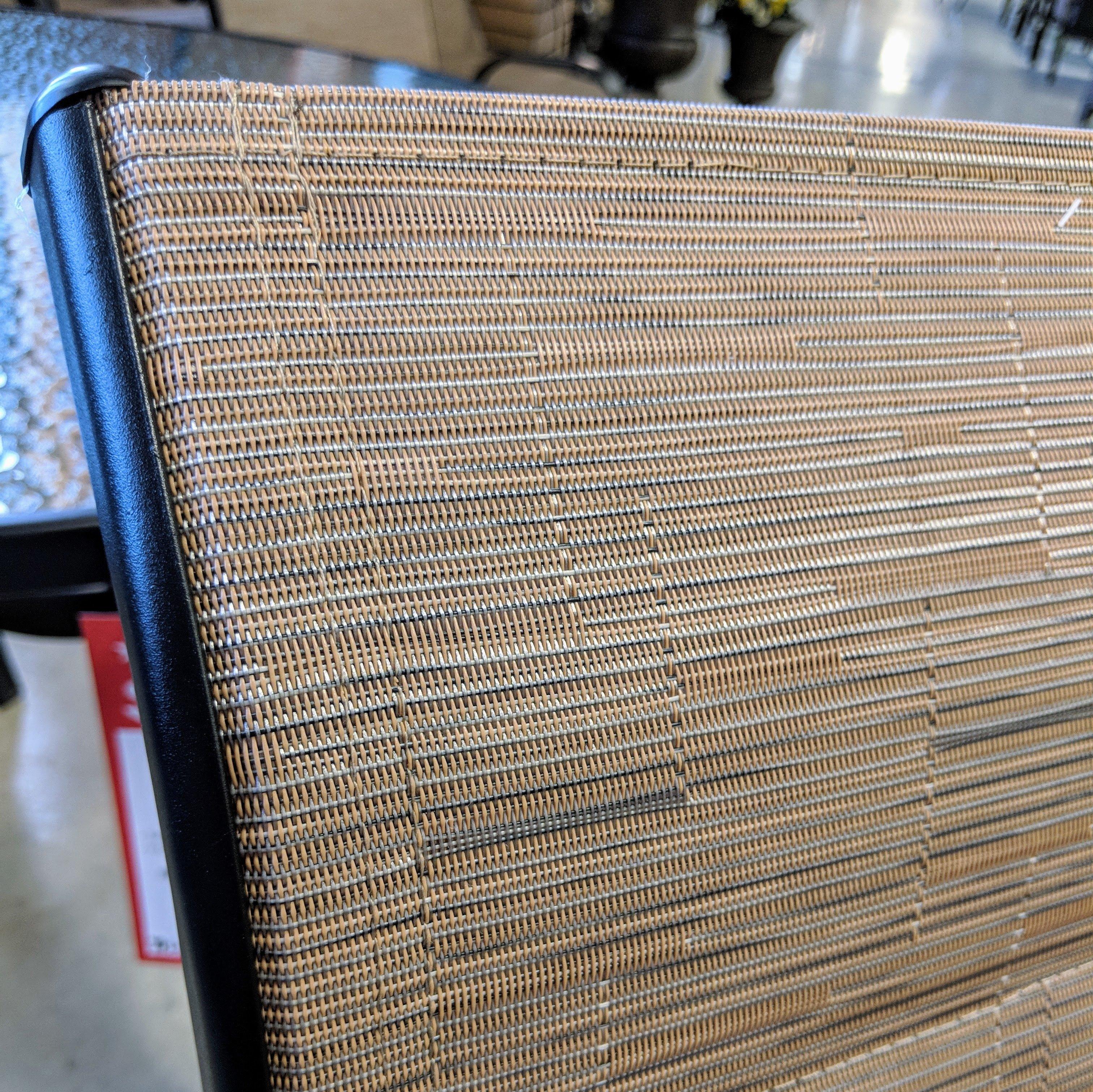 Tan Padded Sling Chair