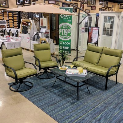 Deep Seating 4 Pc Chair Set with Cushion