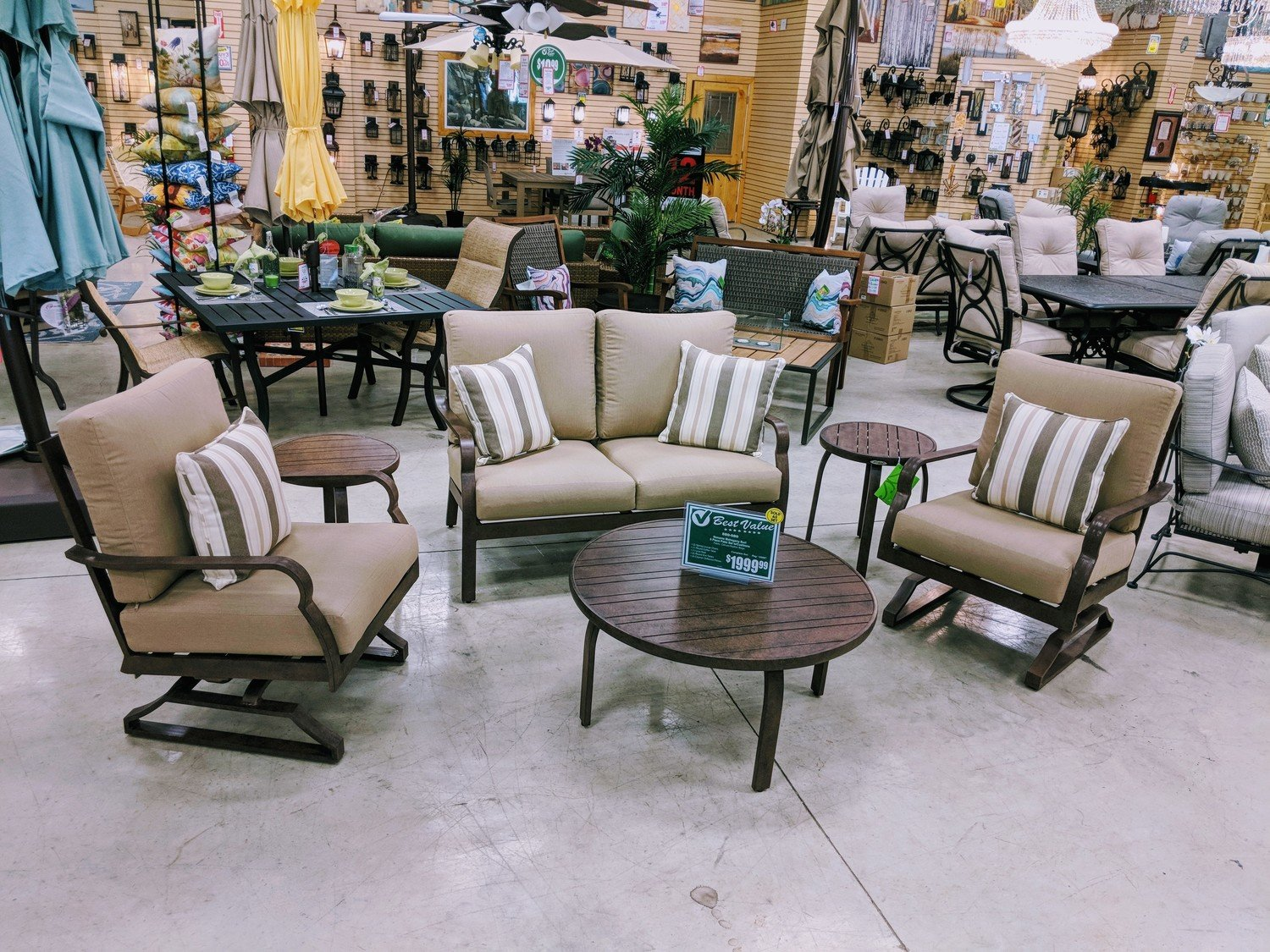 Mahogany Burl 6 Piece Patio Set