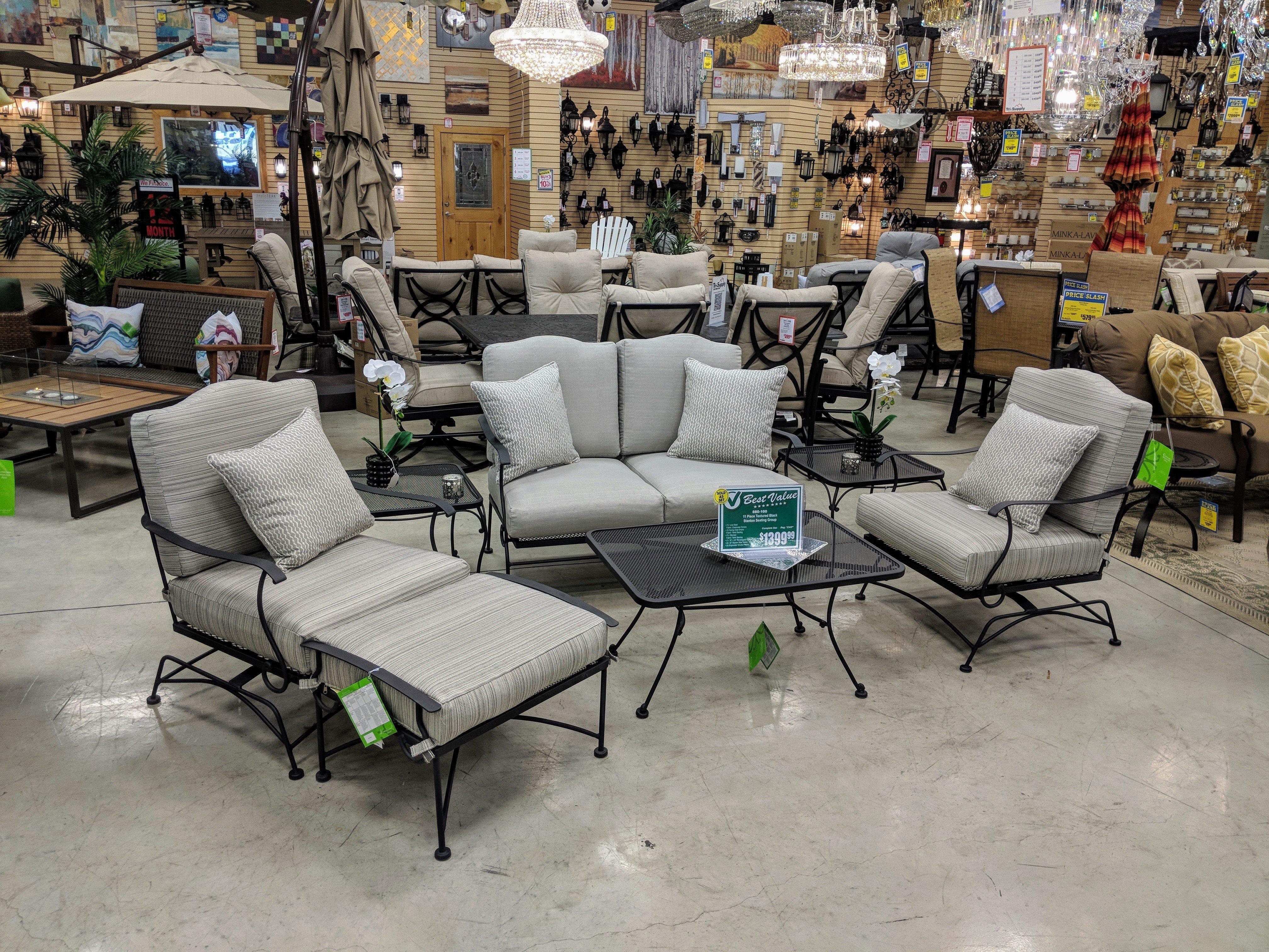 Stanton Textured Black 11 Piece Seating Group W-000035