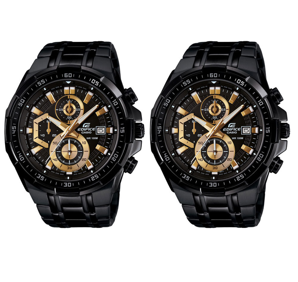 DIWALI COMBO OFFER - Casio Edifice EFR-539BK-1AVUDF (EX187) Chronograph  Men s Watch Combo Set b3175555a