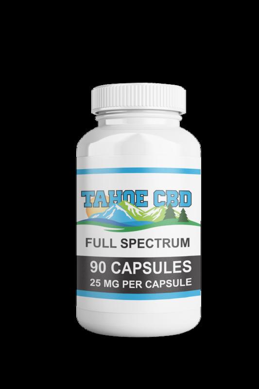 Tahoe CBD Full Spectrum Capsules 25mg/90 Count