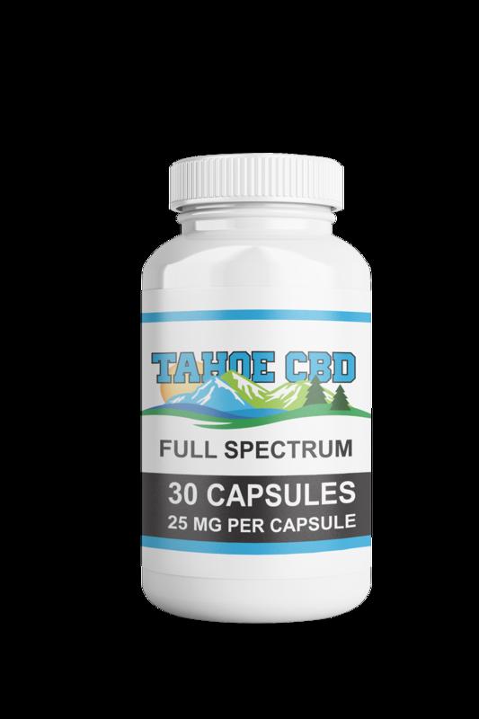 Tahoe CBD Full Spectrum Capsules 25mg/30 Count