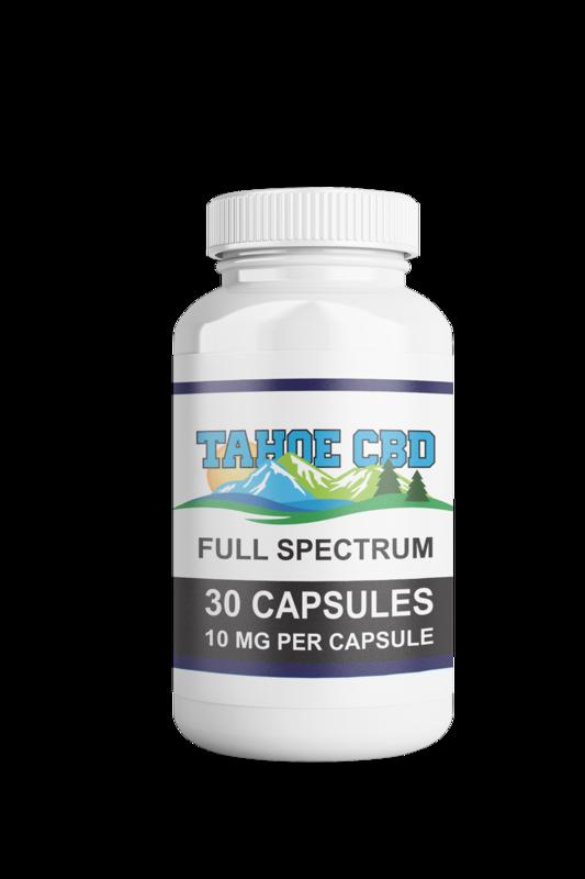 Tahoe CBD Full Spectrum Capsules 10mg/30 Count