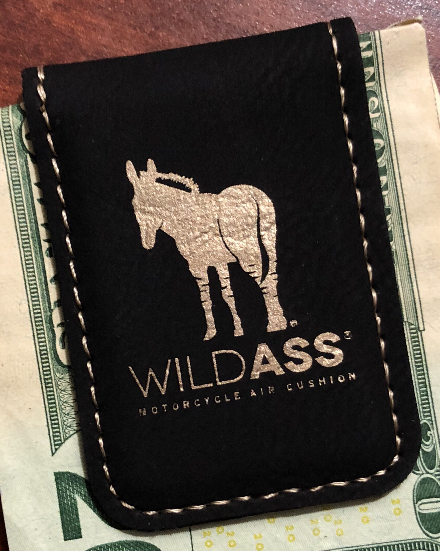 Wild Ass Money Clip - Black/Gold 00013