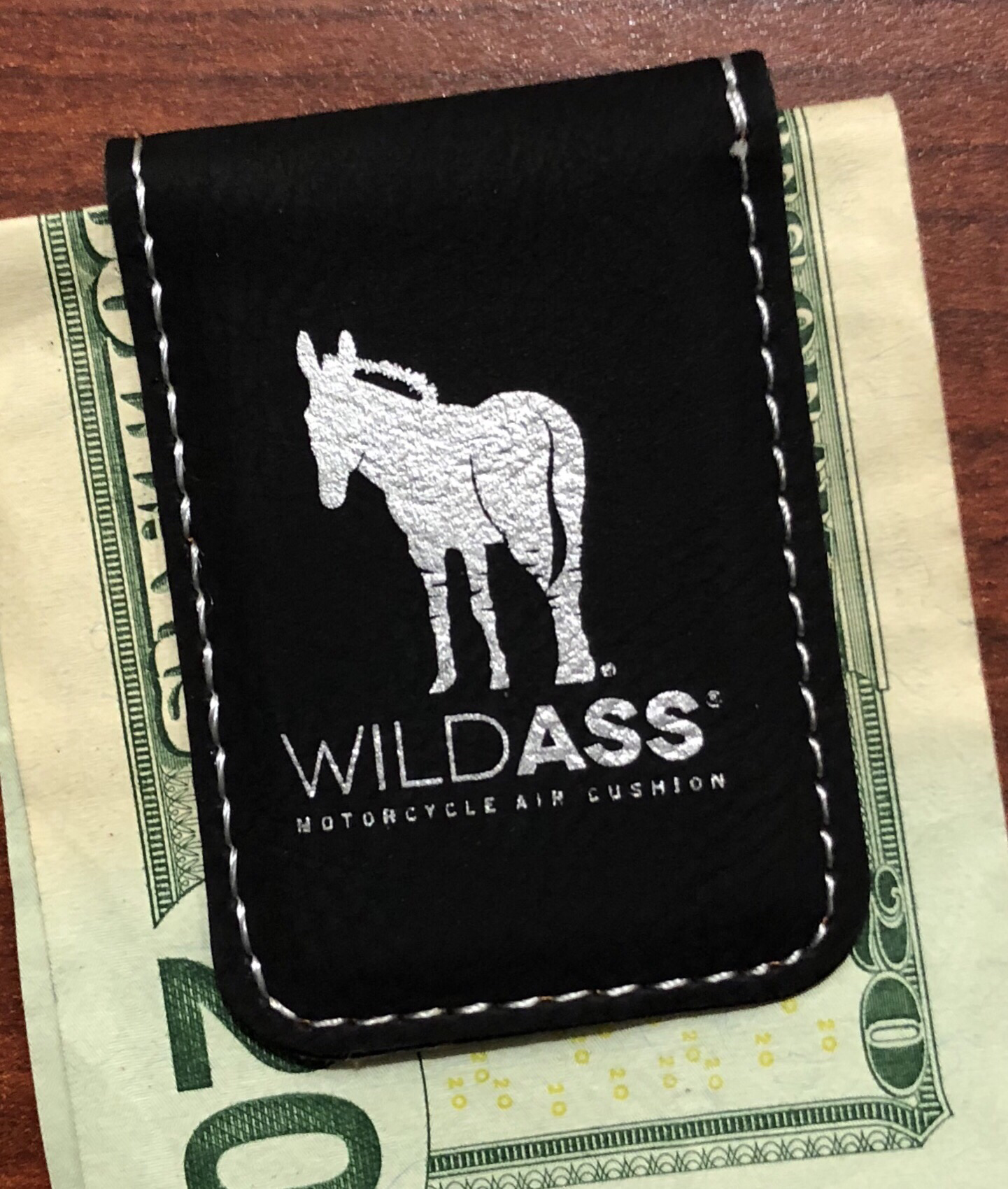 Wild Ass Money Clip - Black/Silver 00014