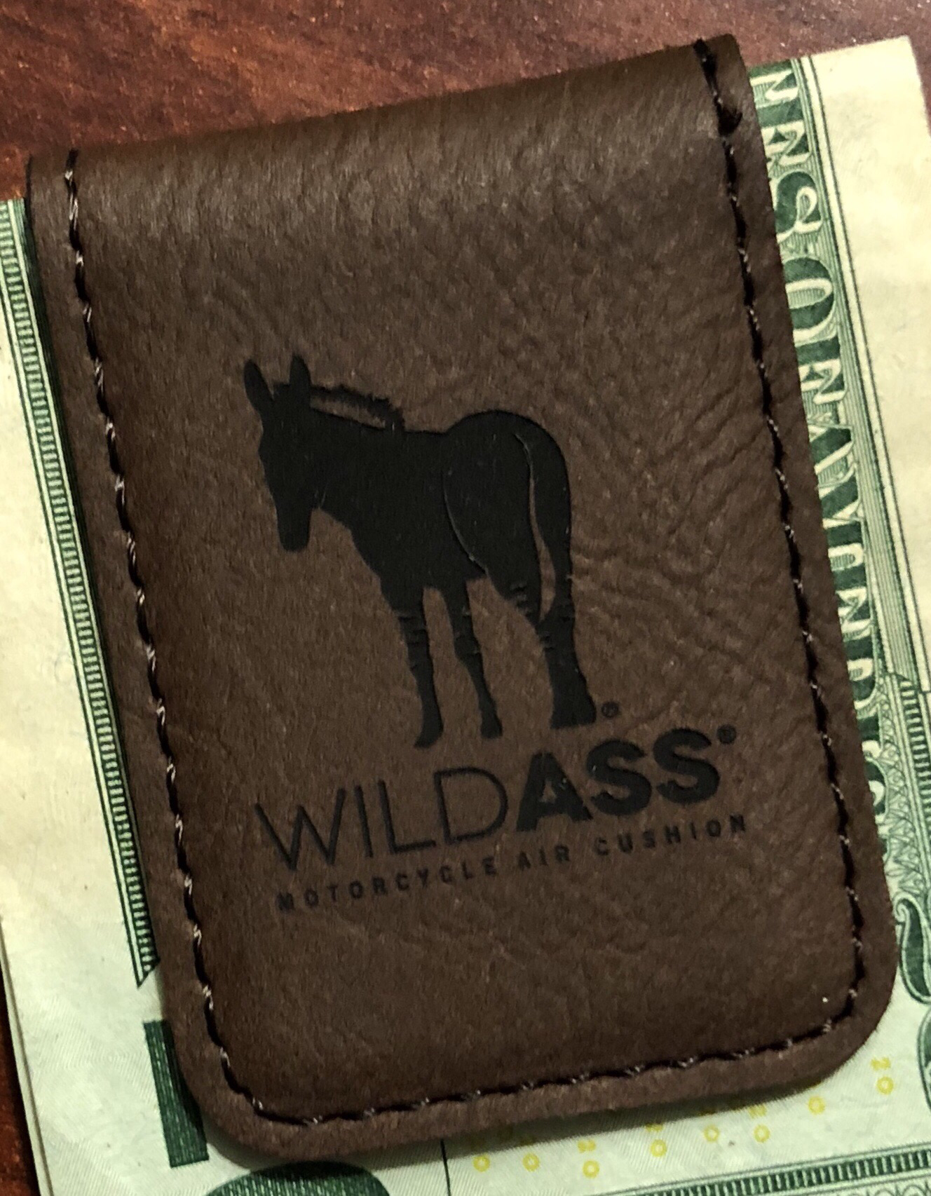 Wild Ass Money Clip - Brown/Black 00017