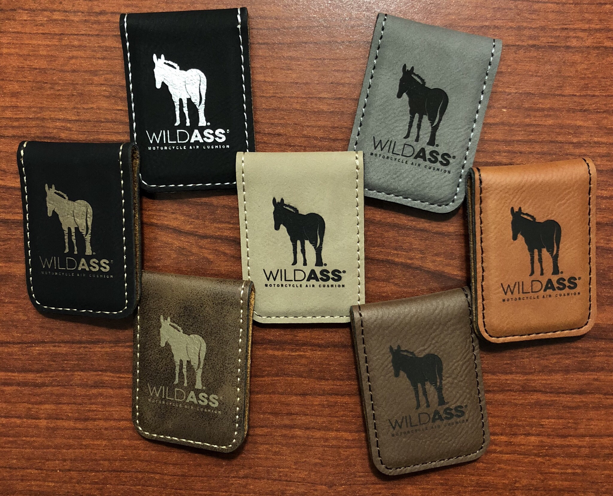Wild Ass Money Clip - Brown/Black