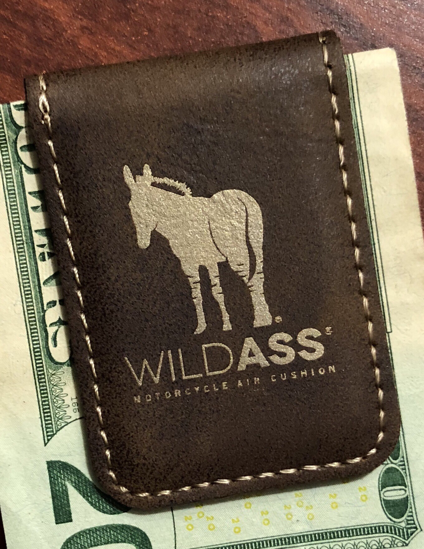 Wild Ass Money Clip - Brown/Gold 00019