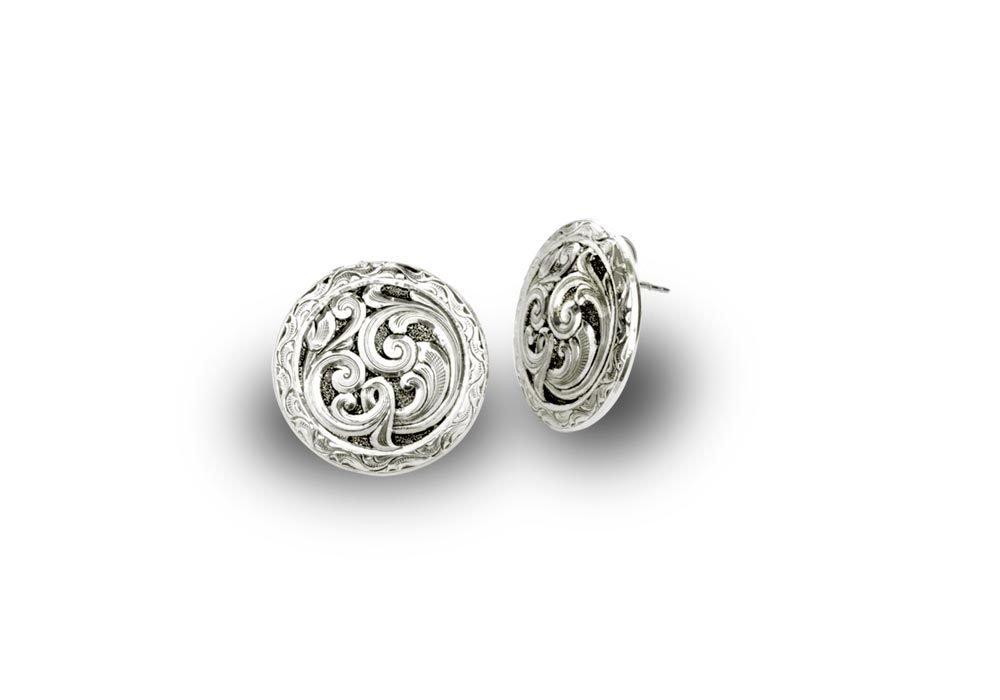 Classic Western Silver Concho Earrings